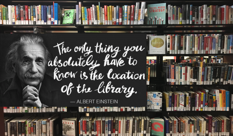 Book and Einstein Quote